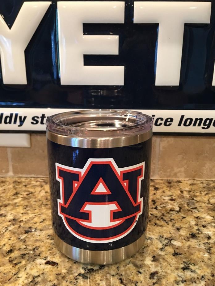 Auburn Yeti Rambler Lowball 10oz NEW-- University of Auburn Tigers w/Lid