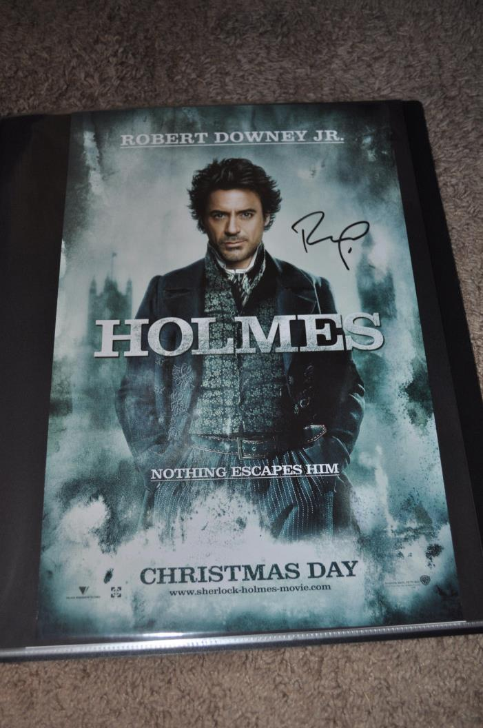 Sherlock Holmes CAST SIGNED x2 AUTOGRAPHED 11x17 Poster SDCC COMIC CON Downey+