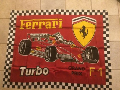Ferrari Logo Turbo Grand Prix Flag
