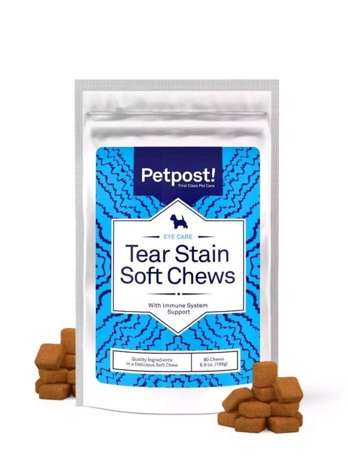 Petpost Tear Stain Remover Soft Chews - Chicken  flavor for Dogs & Cats