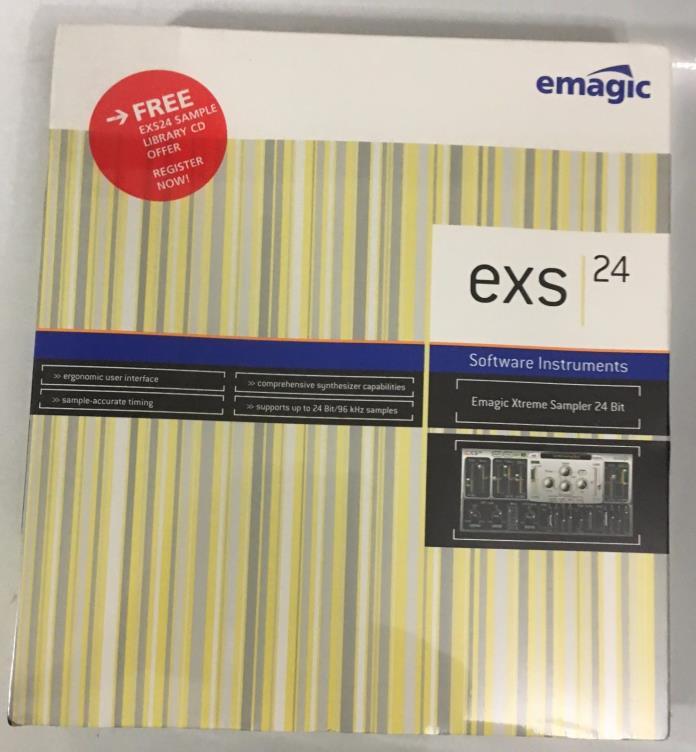 EMAGIC LOGIC 5 + EXS 24 SAMPLING EXTREME SAMPLING 24 MODULE WINDOWS MAC NEW