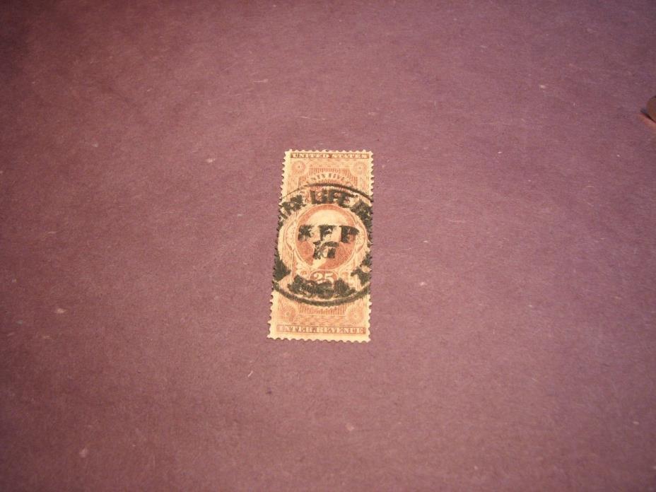 US Stamp Back of Book Scott# R47 Life Insurance 1862-71 C222