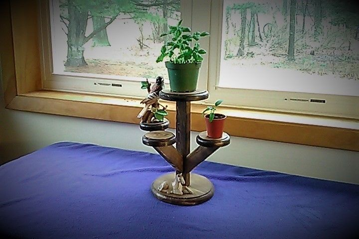 Wooden Hand made Plant Stand  12