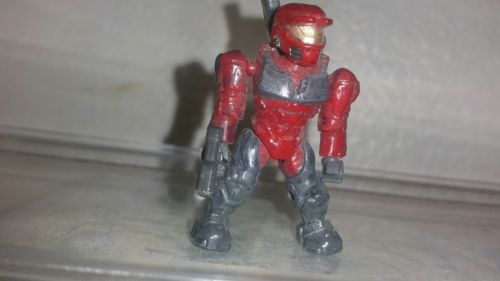Mega Bloks HALO 3 minifig figure toy UNSC Snowbound spartan red CQB  armor!