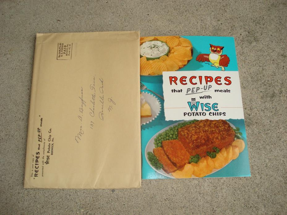 Vintage 1957 WISE POTATO CHIPS Promotion Recipe Booklet - RARE NEW