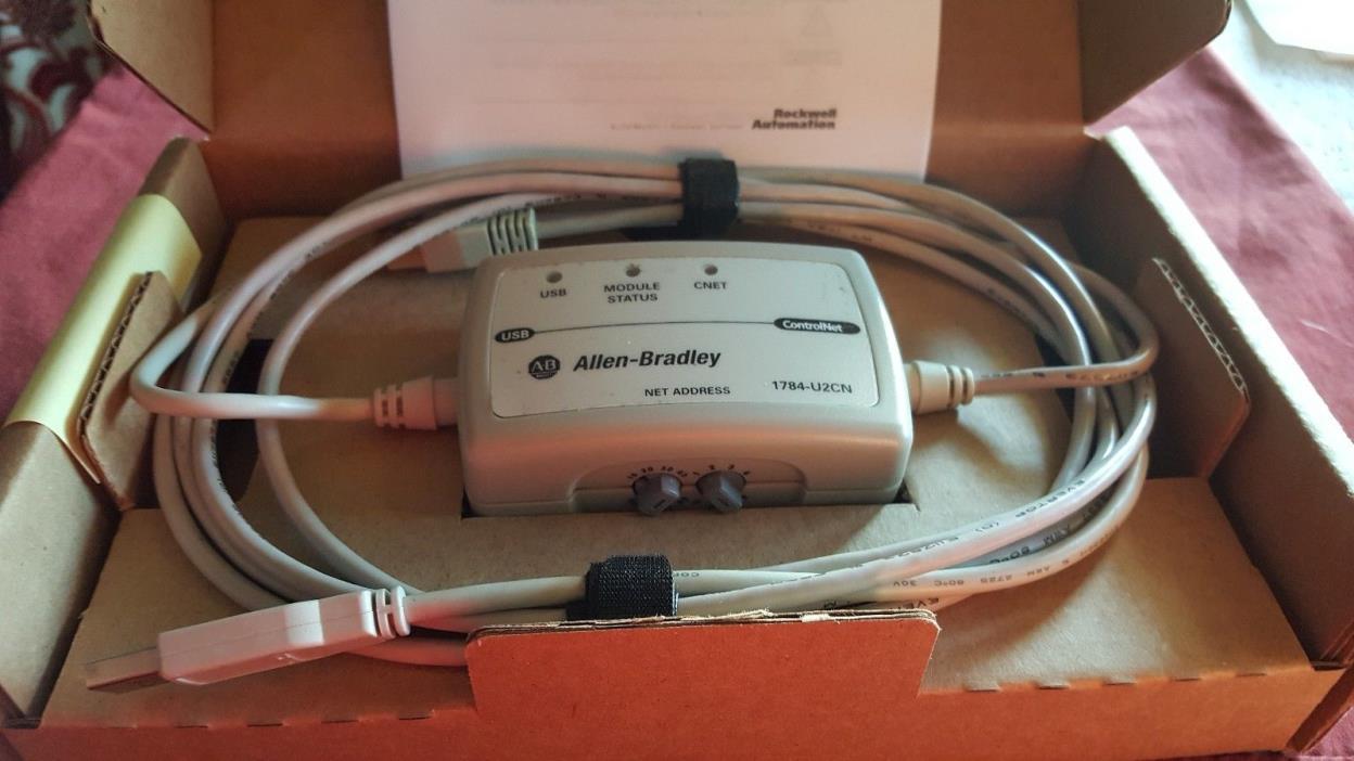 ALLEN BRADLEY  1784-U2CN   2010  1784U2CN  USB  TO   CONTROLNET  CABLE  ADAPTER