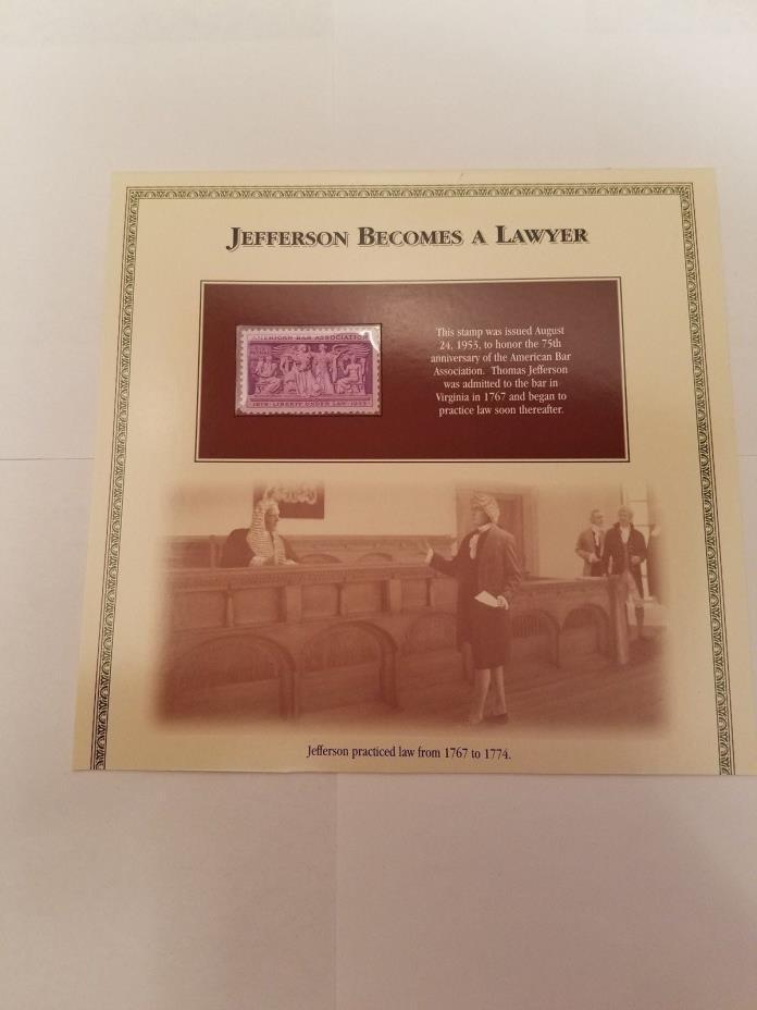 1953 Thomas Jefferson 3 Cent Stamp **FREE SHIPPING**