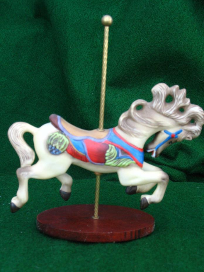 CAROUSEL ART PORCELAIN GRAY HORSE