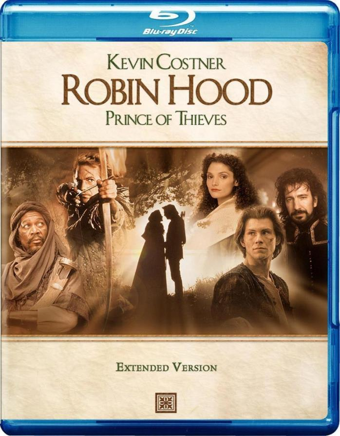 Robin Hood Prince of Thieves (EXTENDED CUT) DVD + DIGITAL HD UV Ultraviolet Code