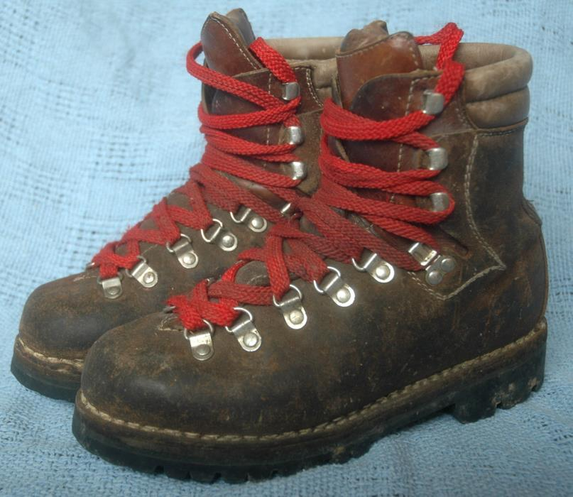 KOFLACH Brown Leather Mountaineering Hiking Boots Mens 6 Austria Vibram Soles