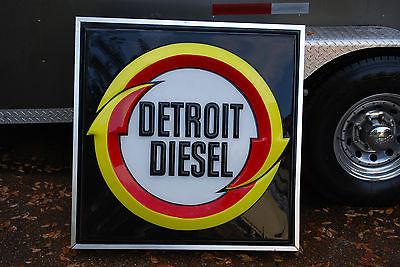 Rare 1965 Genuine Detroit Diesel Lighted Sign