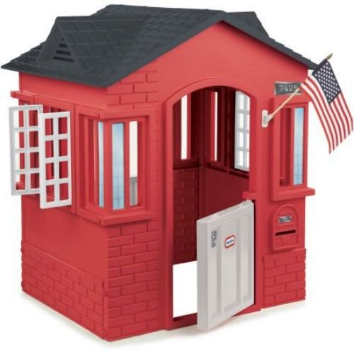 Little Tikes Cape Cottage Playhouse, Red 2 Working Doors-2Window With Shutters