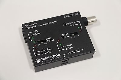 Transition Engineering E-CX-TBT-03 10 BaseT / 10 Base Adapter