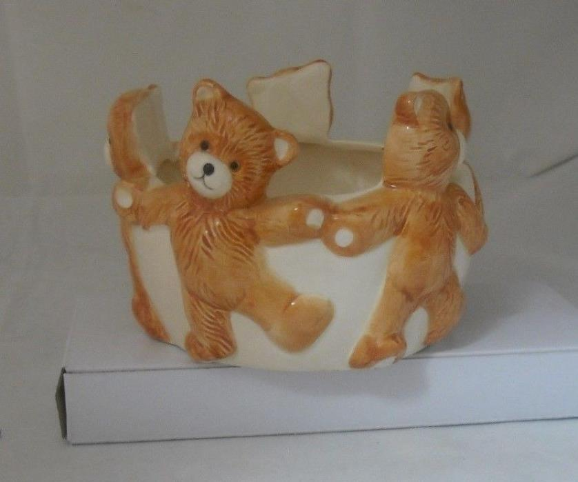 Vintage Teddy Bears Planter/Vase 1970's