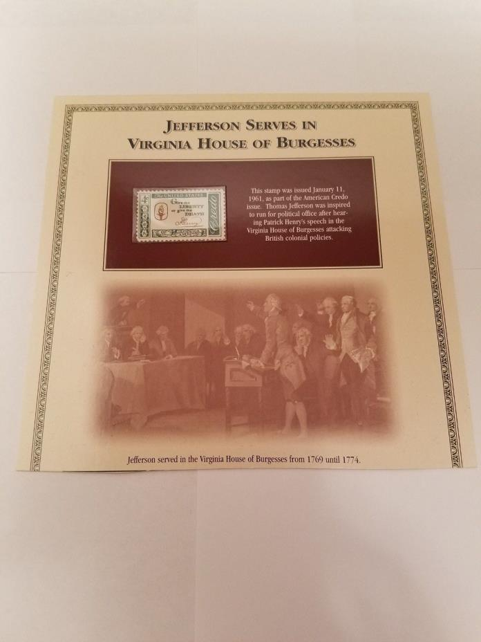 1961 Thomas Jefferson 4 Cent Stamp **FREE SHIPPING**