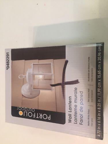 Portfolio 8.25 In White Outdoor Wall Lantern 0482291