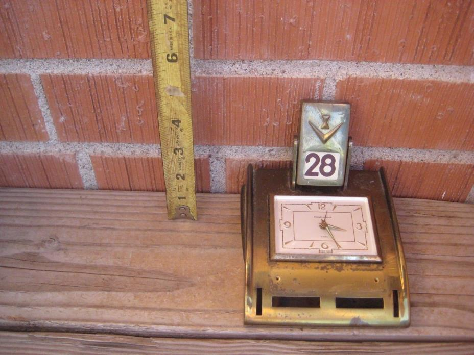 Vintage *** PHINNEY WALKER *** Tested Working Wind Up Alarm Clock GERMANY