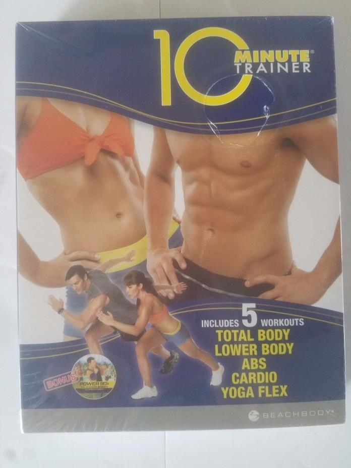 10 MINUTE TRAINER TONY HORTON BEACHBODY SEALED 5 WORKOUTS WITH BONUS + GUIDES
