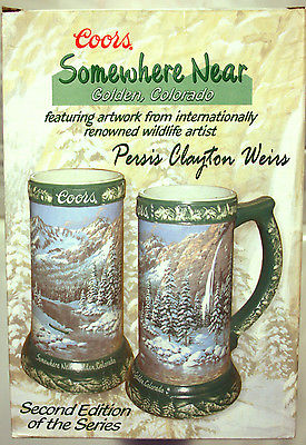 NIB 2004 Coors Somewhere Near Golden Colorado Stein