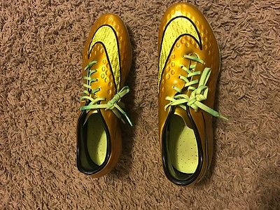 Gold Nike Hypervenom Soccer Cleats Size 6.5