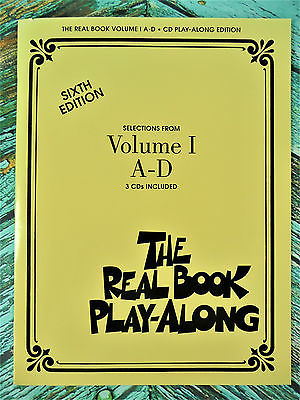 New! THE REAL BOOK PLAY-ALONG VOLUME 1 A-D Sixth Edition 3 CDs HL00240302
