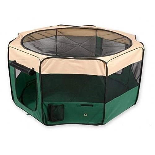 Portable Dog Cat  Puppy Pet Playpen Exercise Pen Kennel with Carry Bag 61x30