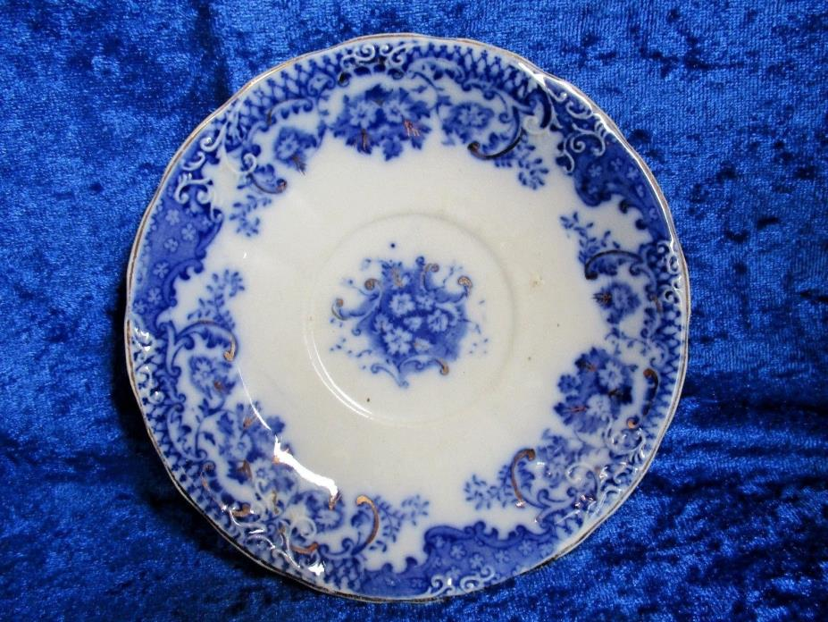 Antique W&E Corn England Flow Blue 6