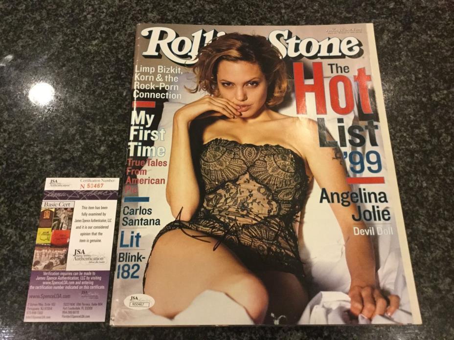Angelina Jolie Signed Rolling Stones Magazine Aug 1999 Autographed COA JSA   AU