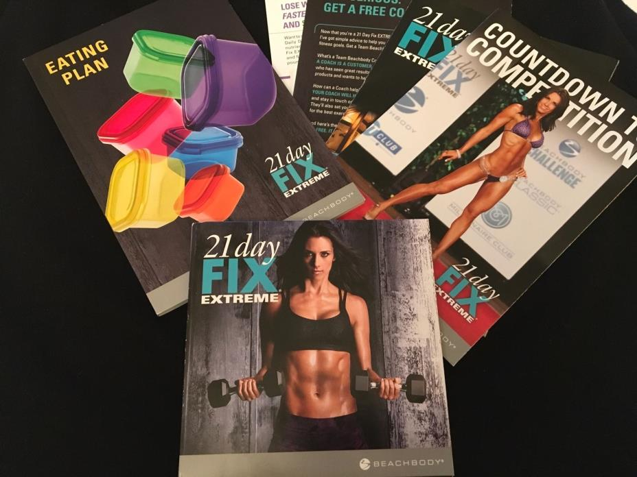 21 Day Fix Extreme 2 DVD's + Eating Plan Booklet