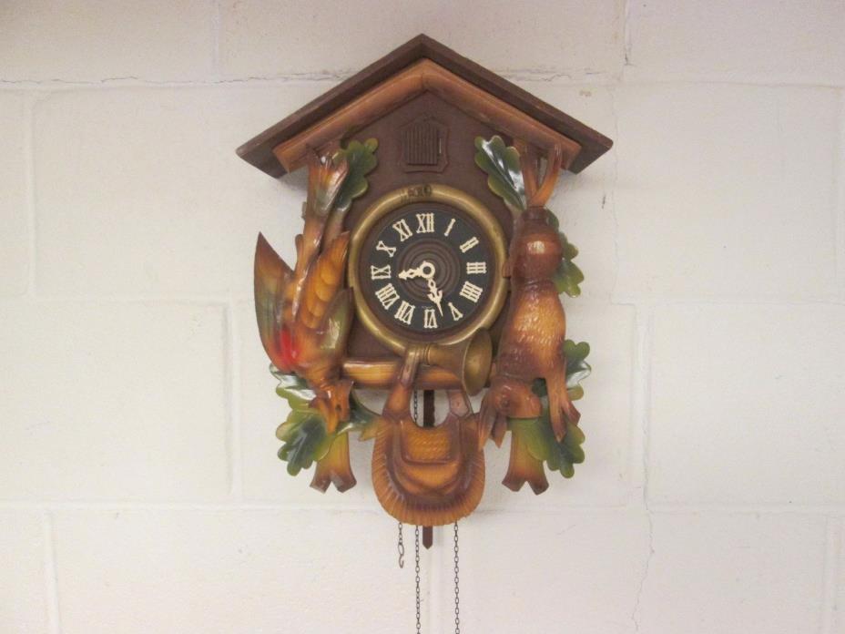 Vintage German  Cuckoo Clock - PARTS - REPAIR - Bird - Rabbit