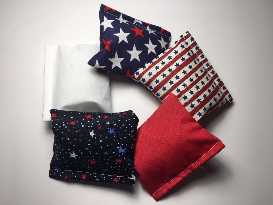Crinkle Pillows with Catnip LOT OF 5 - JULY 4th USA Cat Kitten Toy Crunch Kicker