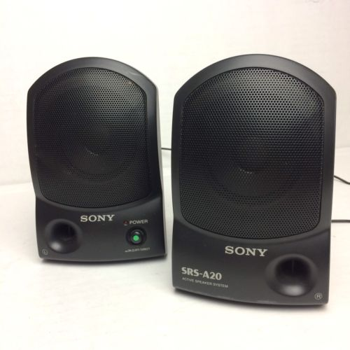 Sony SRS-A20 Active Portable Computer Stereo Speaker System • Work