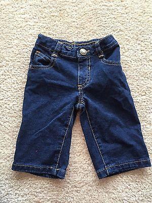 Old Navy Dark Denim Baby Blue Jeans, Size 3-6 Months, ADORABLE!!