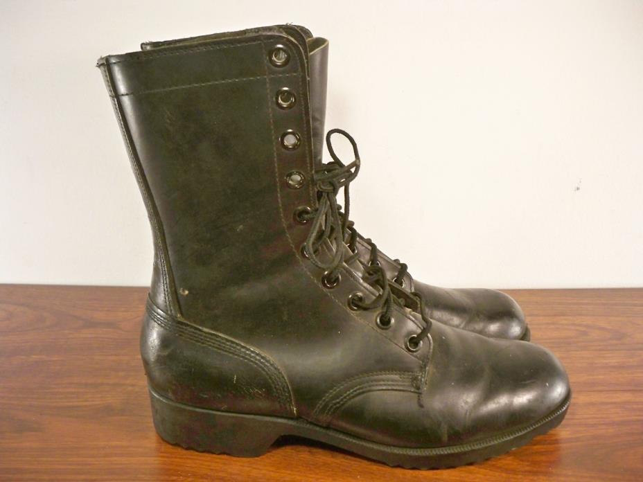 Vintage Vietnam War Nam 10-73 Combat Military Riding Biker Leather Mens Boots 10