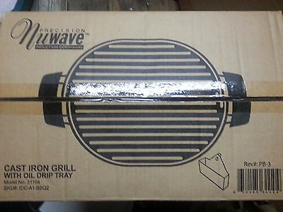 Nuwave Precision Induction Cast Iron Grill With Oil Drip Tray