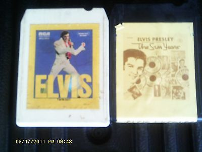 Elvis Presley - The Sun Years and Elvis - Twin Set 8-Track Tapes