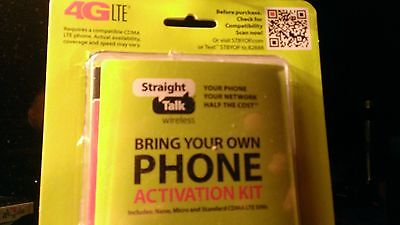 Straight Talk activation Kit for CDMA/Verizon branded phone NANO Sim only