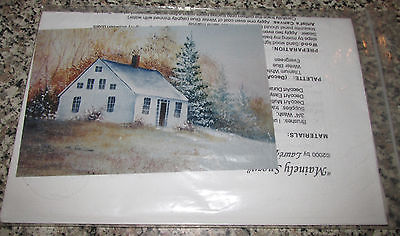 Tole Painting pattern Packet New old Mainely Snow cottage Laure' Paillex Rare
