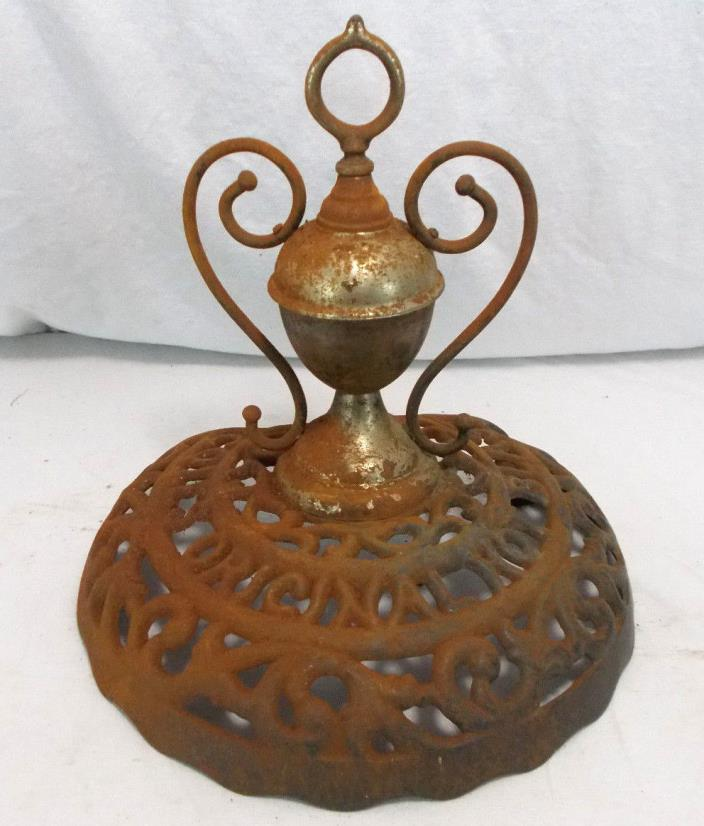 COLES HOT BLAST ANTIQUE STOVE TOPPER Cast Iron Coal Burner~Parts Wood Vintage
