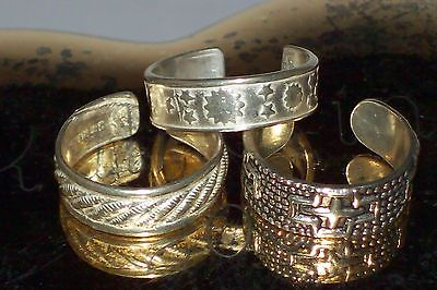 Lot Of 3 Sterling Silver Toe Rings