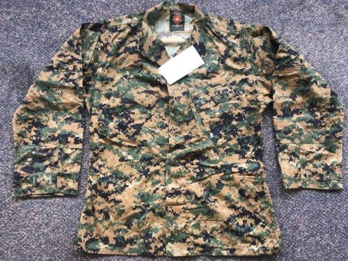 NWT USMC Issue Woodland Digital Marpat Camouflage Blouse Size Medium Regular