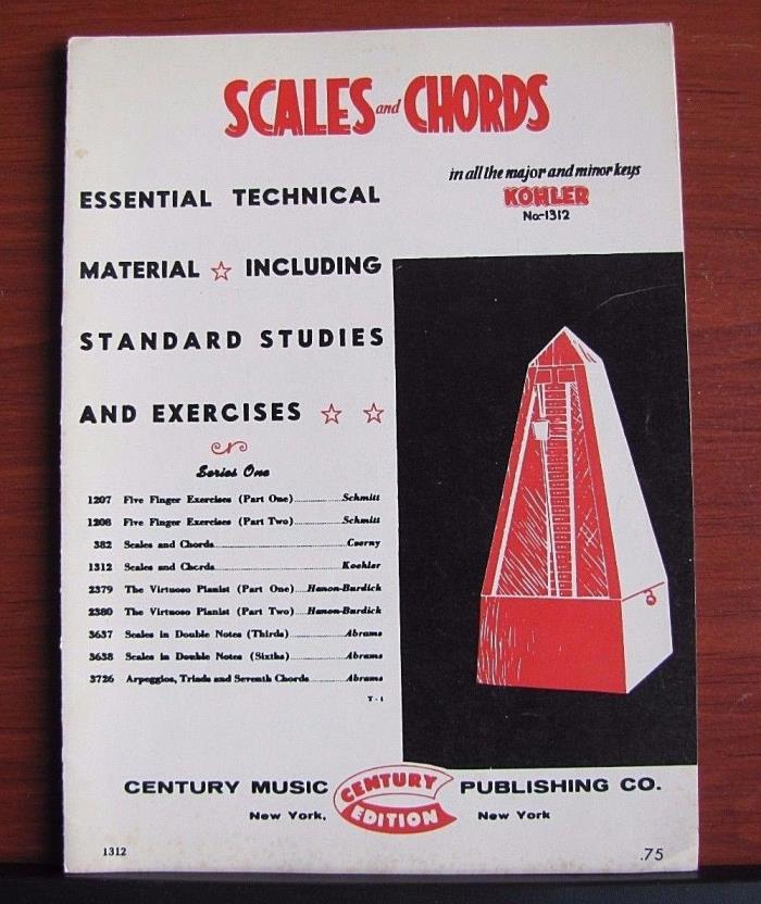 Scales & Chords in all the Major and Minor Chords - Kohler no 1312 - Piano study