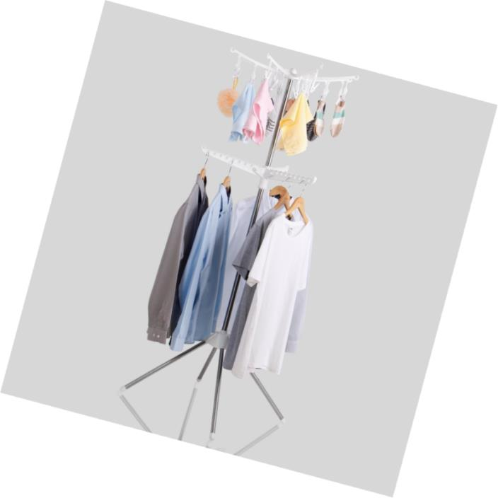 Lifewit Collapsible Clothes Drying Rack Portable 2-Tier Clothes Dryer for Hangin