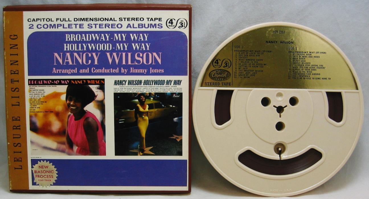 Nancy Wilson Broadway & Hollywood My Way 4 Track Reel to Reel 3 3/4 IPS Y2T-2257