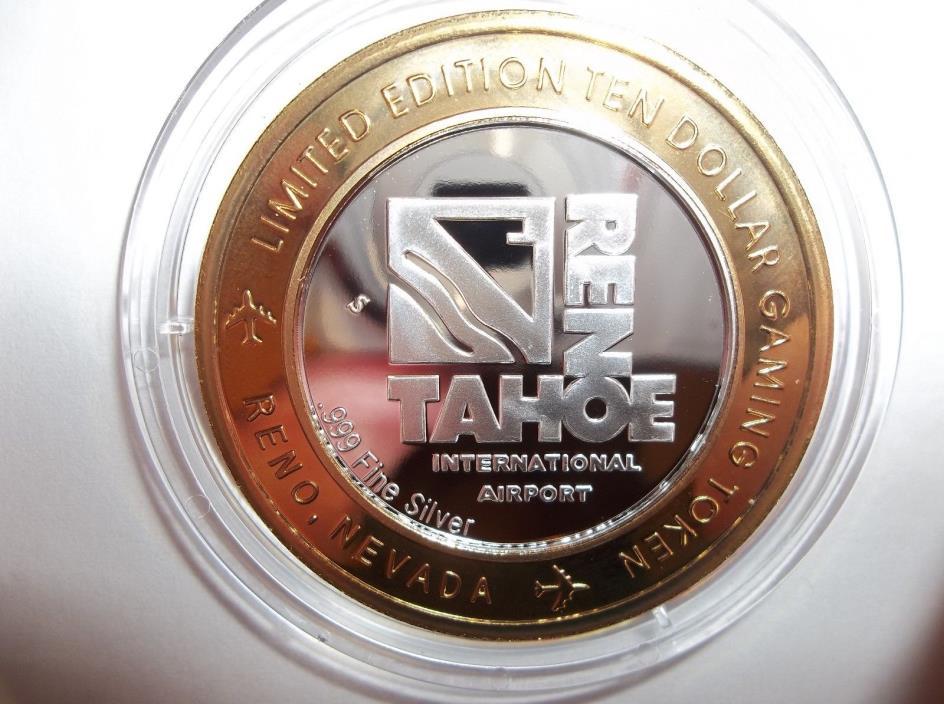 2007 Reno Taho Set Of (3) $10 Endangered Species Series .999 Fine Silver Strikes