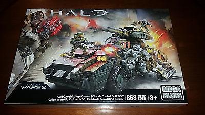Mega Bloks Halo Wars 2 UNSC Kodiak Siege Cannon, New and Sealed, 868 pcs.