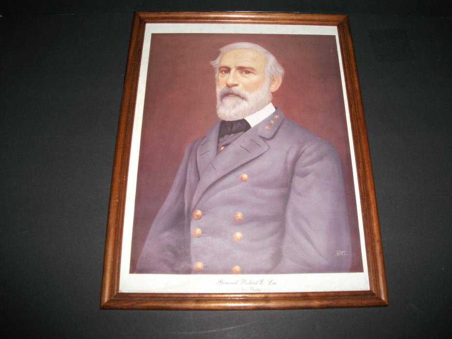VINTAGE NOEL PANTIG SIGNED PRINT OF GENERAL ROBERT E. LEE