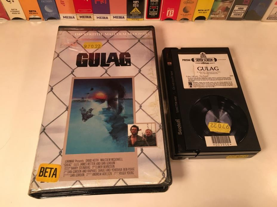 * Gulag Betamax NOT VHS 1985 TV Movie Prison Drama Beta Clamshell David Keith