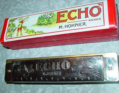 M. Hohner The Echo Harmonica Key of G Made in China Musical Instrument in Box