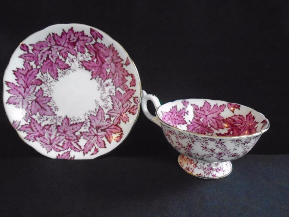 Coalport Red Ivy Cup and Saucer